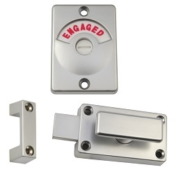 100A-Series: Chrome Diecast Zinc Safety Handle Lock & Indicator Set