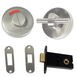 400 Series: Stainless Steel Concealed Fix Morticed Lock & Indicator Set