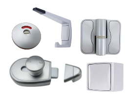 Antimicrobial Moda Hardware Partition Set