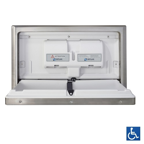 Stainless Steel Recessed Horizontal Baby Change Station