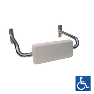 Disabled Padded Toilet Back Rest: Curved Arm