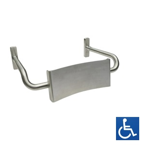 Disabled Vandal Proof Toilet Back Rest: Curved Arm