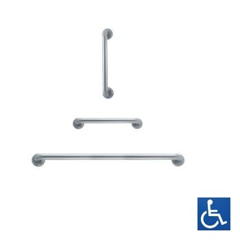 Antimicrobial Straight Grab Rail: 300-900mm