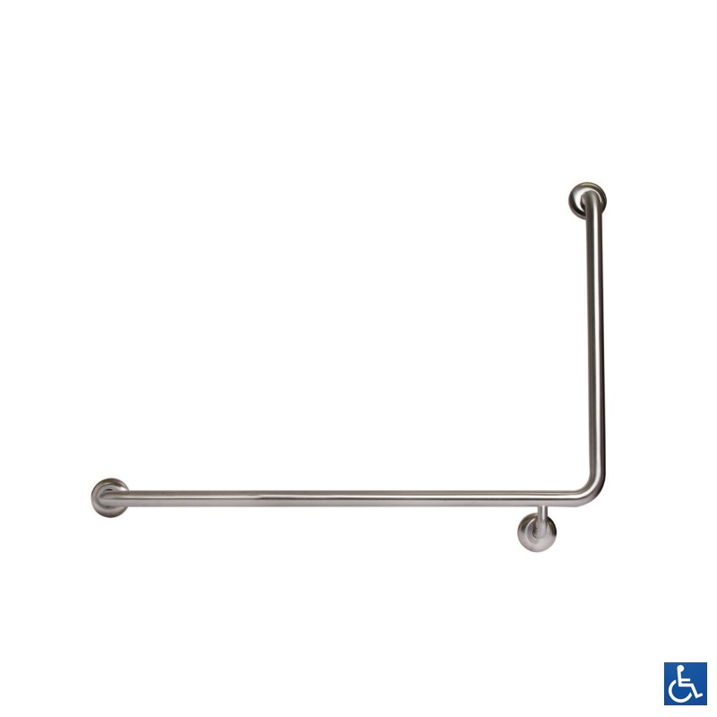 Antimicrobial Disabled LH 90° Grab Rail