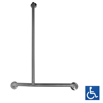 Disabled Shower Inverted 'T' LH Grab Rail