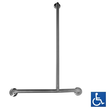 Disabled Shower Inverted 'T' RH Grab Rail