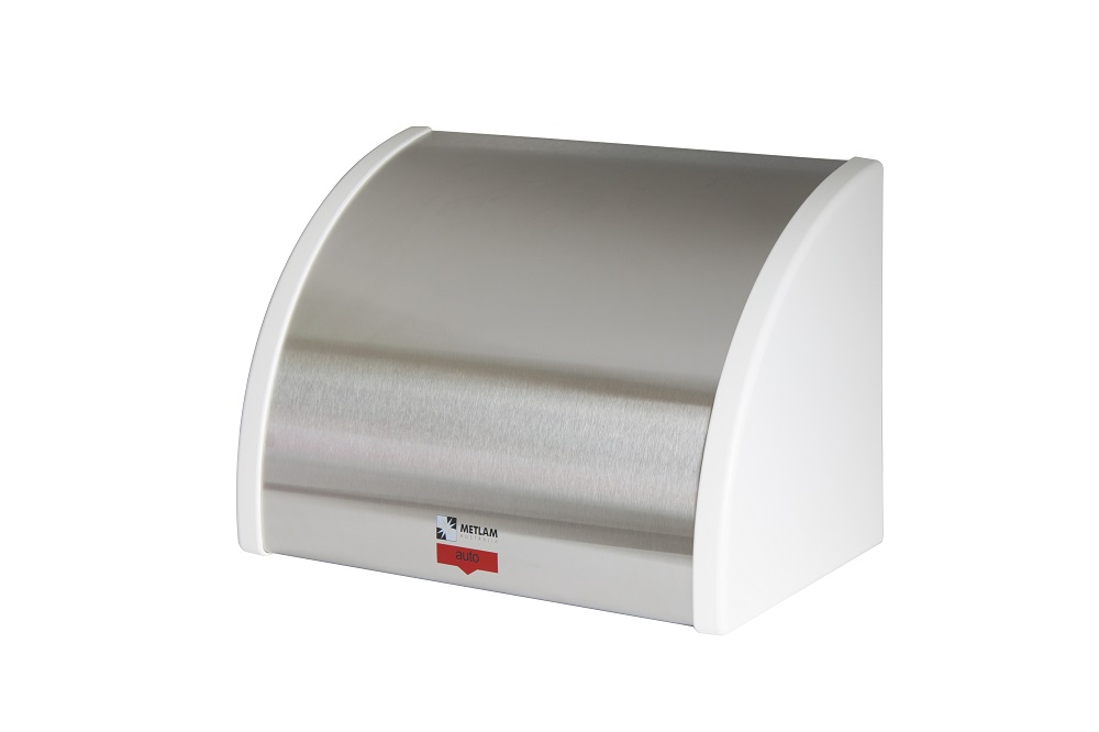 Stainless Steel & White ABS Auto Hand Dryer