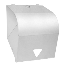 White or Stainless Steel Lockable Paper Roll Towel Dispenser