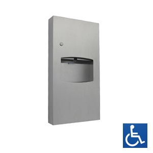 Surface Mounted Paper Towel Dispenser & Waste Receptacle