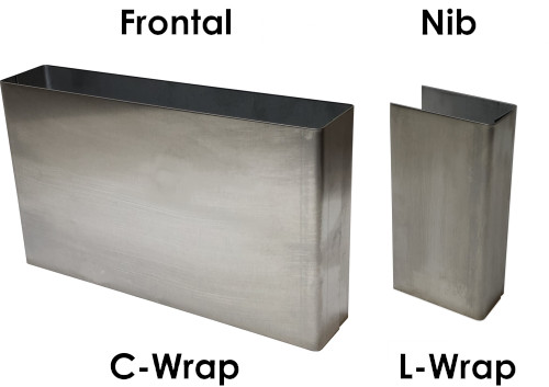 Stainless Steel Panel Wraps: <b>125mm Height</b>