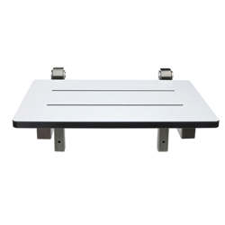 Laminate & Stainless Steel Folding Shower Seat: 355mm x 315mm