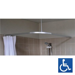 L-Bend Shower Curtain Track System
