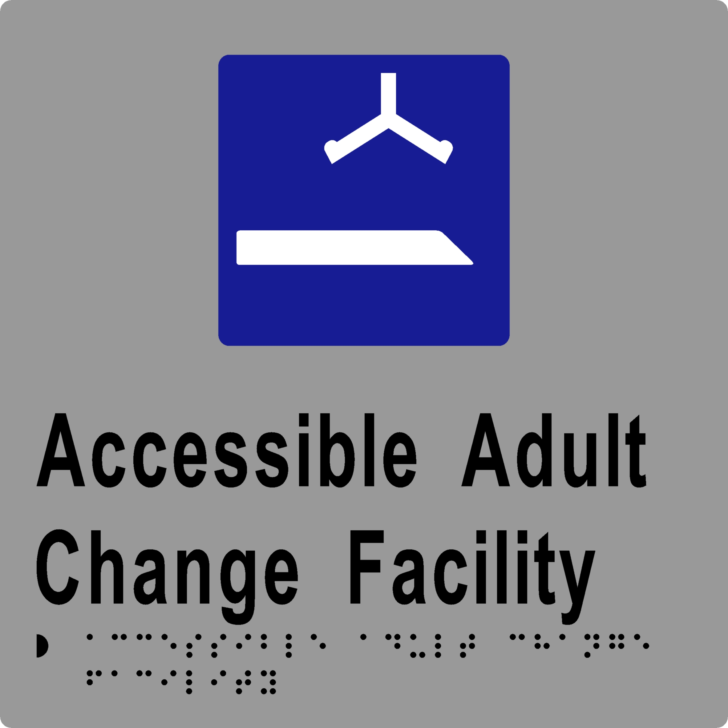 'Accessible Adult Change Facility' Sign: Braille