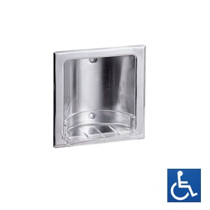 Stainless Steel Recessed Removable-Tray Soap Holder