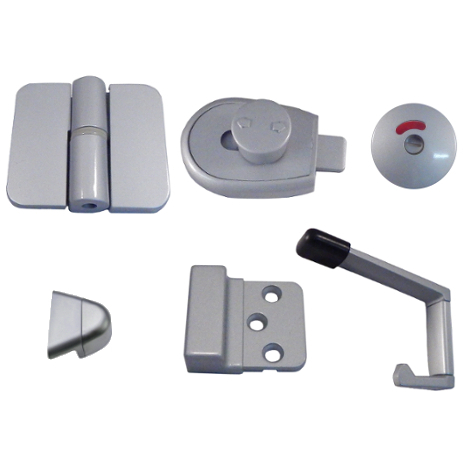 Antimicrobial Toilet Partition Hardware Kit