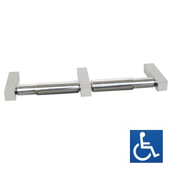 Paterson Series: Square-Mount Dual Toilet Roll Holder