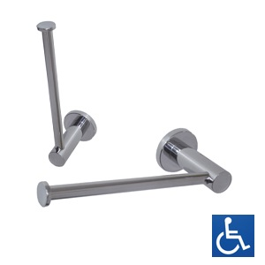 Lachlan Series: Chrome Brass Toilet Roll Holder