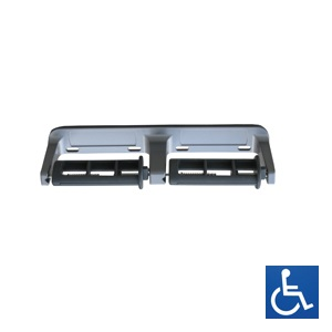 Baked Enamel Aluminium Restricted-Feed Dual Toilet Roll Holder