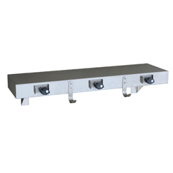 Utility Shelf with Mop Holders, Hooks & Rail
