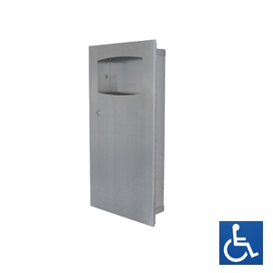 Recessed Stainless Steel 9L Waste Receptacle