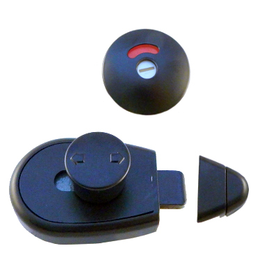 Designer Black, Indicator Slide Lock set (disabled access)