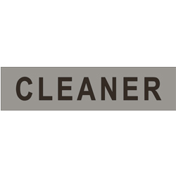 'CLEANER' Sign