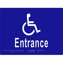 'Entrance' Accessible Sign: Braille