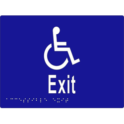'Exit' Accessible Sign: Braille