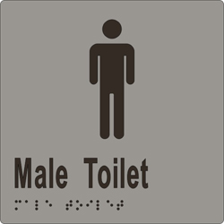 Male Sign, Male Toilet 150x150 BRAILLE