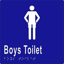 Male Sign, Boys Toilet 150x150 BRAILLE