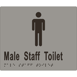 Male Sign, Male Staff Toilet 180x150 BRAILLE