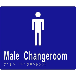 Male Sign, Male Change Room BRAILLE