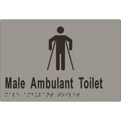 'Male Ambulant Toilet' Sign: Braille