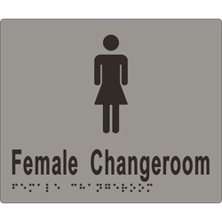'Female Changeroom' Sign: Braille