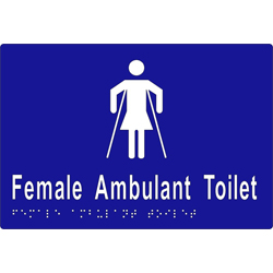 'Female Ambulant Toilet' Sign: Braille
