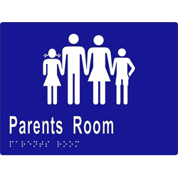 Sign, Parents Room 200x150 BRAILLE