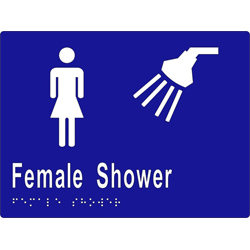 'Female Shower' Sign: Braille