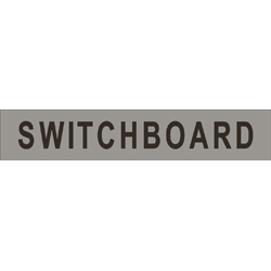 Signage SWITCHBOARD Text  SS/Vinyl