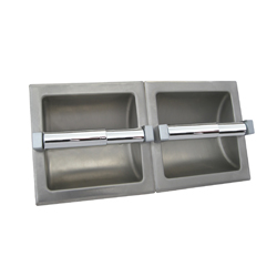 Recessed Double Toilet Roll Holder