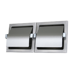 Two Roll Toilet Tissue Dispenser Hooded