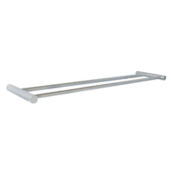 Lawson Series: Stainless Steel 620mm Round-Mount Dual Towel Bar