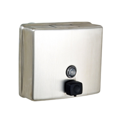 Square Liquid Soap Dispenser with Black Soap Valve- SSS
