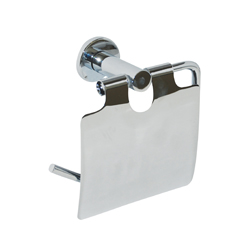 Lachlan Series: Toilet Paper Holder with Cover - Bright Chrome