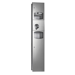 Paper Towel Disp, Hand Dryer & Waste Receptacle Recessed - SS