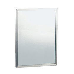Stainless Steel Framed Safety Glass Mirror 460 x 610mm