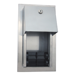 Recessed Dual Roll Toilet Paper Dispenser - SSS