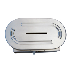 Jumbo: Stainless Steel Dual Toilet Roll Dispenser