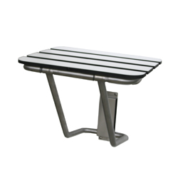 Laminate & Stainless Steel Folding Shower Seat: 470mm x 445mm