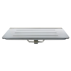 Folding Disabled Shower Seat 960mm x 400mm, SSS Brackets, White 13mm Compact Laminate