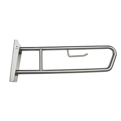 Disabled Pull Down Grab Rail & Toilet Roll Holder